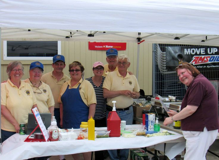 Lion provided the BBQ for the Haliburton Walker's Home Hardware Grand Opening event