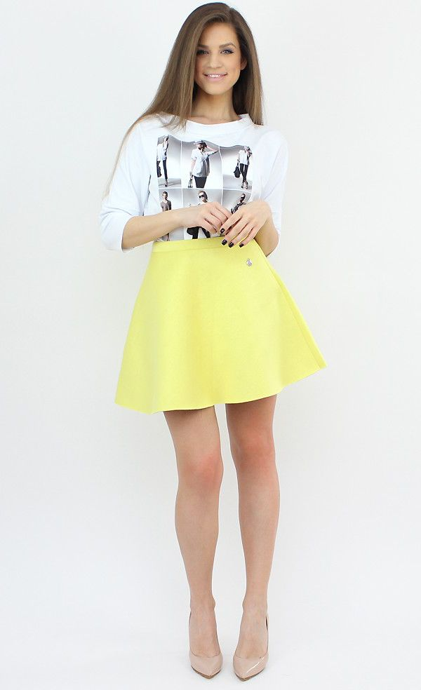 Casual Yellow Flared Skirt for a touch of happiness and color in your wardrobe..:)  #casual #skirt #style #fashion #shopping