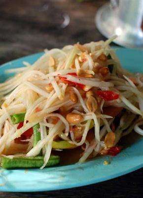 Femina.co.id: Salad Pepaya, rendah lemak dengan serat pangan tinggi.