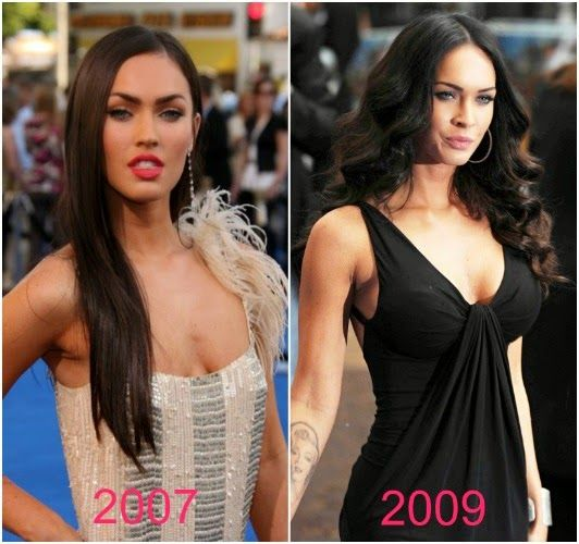 transformación de megan fox