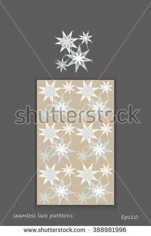 White seamless pattern lace vector texture background for all. Eps10. - stock vector #lace #bobbin #vector #shutterstok  #illustration #wedding  #retro #vintage