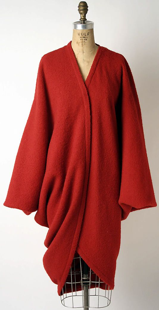 Coat | Issey Miyake (Japanese, born 1938) | Japan, circa 1985 | Material: wool | The Metropolitan Museum of Art, New York