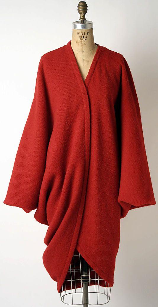 Coat Issey Miyake (Japanese, born 1938) Design House: Miyake Design Studio (Japanese) Date: ca. 1985 Culture: Japanese Medium: wool