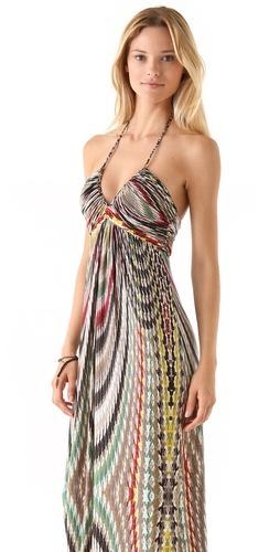 Tbags Los Angeles Halter Maxi Dress
