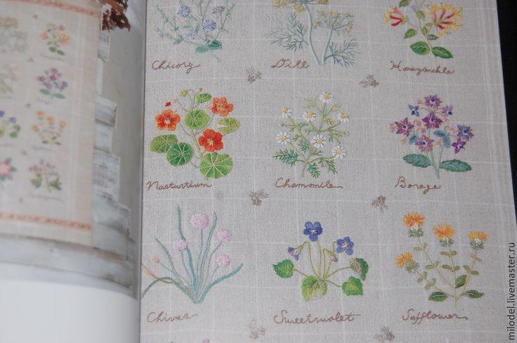 Купить Садако Тоцука вышивка на льне - печатная продукция, книги по рукоделию, схема для вышивки, схема