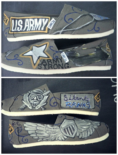Specs and Wings: In the Studio: Army Wife Toms