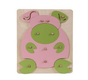 Puzzle on the pins - the pig.