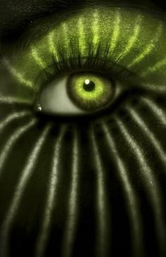Through Watermelon green eye // Jungle by #Anticocotte