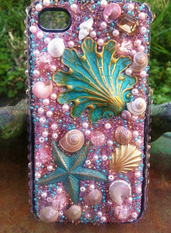 Stunning Pink Beach themed iPhone 4/4s Case by Kianaskases on Etsy, $60.00