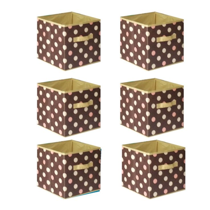 6 pcs Home Storage Box Household Organizer Fabric Cube Bins Basket Container #Shonpy