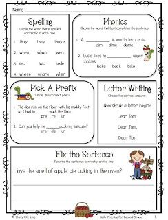 Daily Practice for Second Grade Freebie one day is a freebie but the.  Packet for the entire month is only $5 Common Core Aligned!