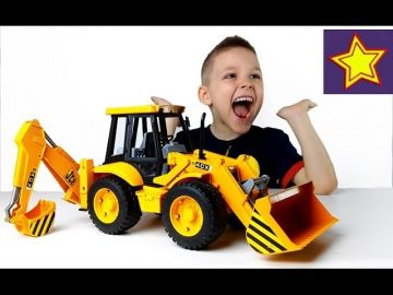 Машины Bruder Большой Экскаватор Погрузчик JCB Bruder Toys for kids http://video-kid.com/21453-mashiny-bruder-bolshoi-ekskavator-pogruzchik-jcb-bruder-toys-for-kids.html  Привет, ребята! В этой серии Игорюша показывает большой экскаватор погрузчик JCB 4CX  Bruder. Это желтый колесный экскаватор с опорами, с подвижным задним ковшом и отвалом. У погрузчика вращается руль и кресло водителя, а также есть амортизатор передней оси.******************************************************Спасибо…
