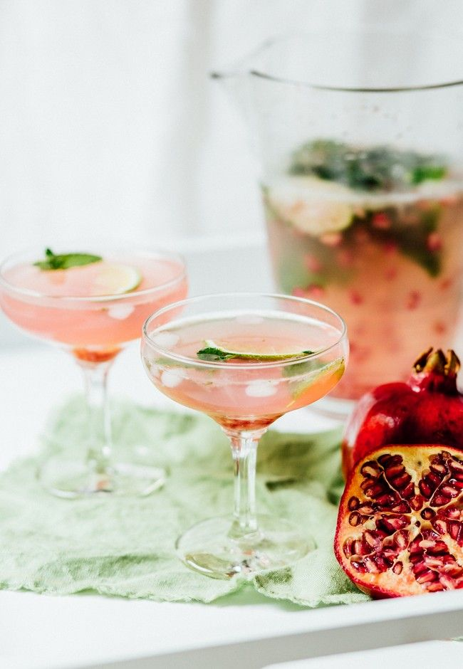 Pomegranate and Lime Spritzer | Good Magazine