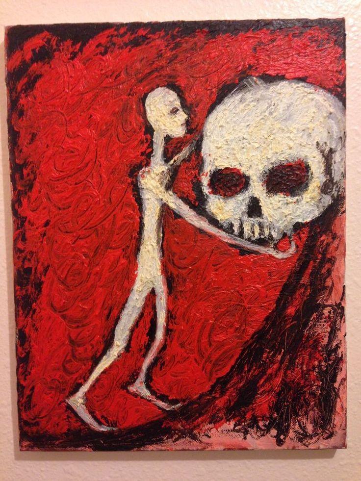 """""""Sisyphus""""   OIL on 11""""x 14"""" Canvas, original,abstract. impasto  jack larson #Abstract"""