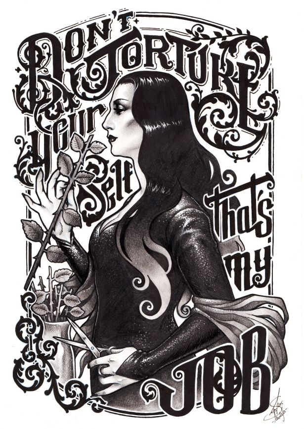 Don't torture yourself, Gomez. That's my job by *Medusa-Dollmaker on @DeviantArt