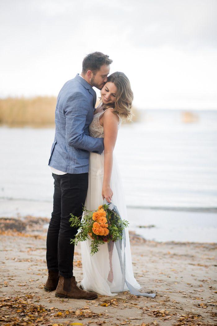Hochzeit Am Strand Im Herbst Hochzeitsfotos Hochzeit Am Strand Hochzeit