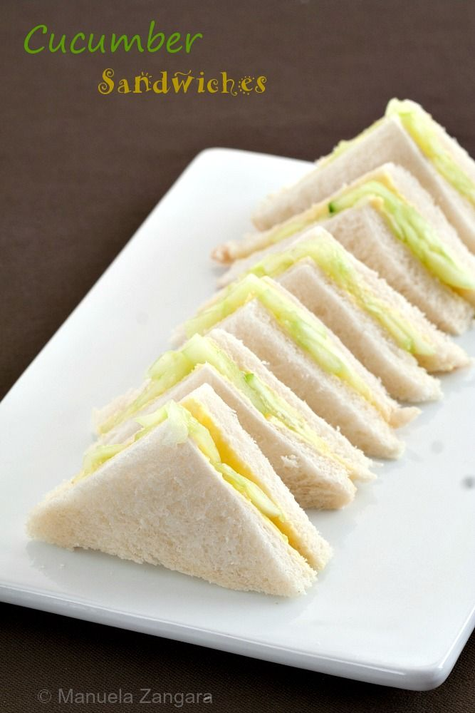 The perfect tea sandwiches: Cucumber Sandwiches!