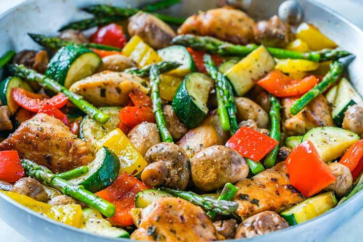 One Pan Italian Chicken Skillet is a NEW 20 Minute Dinner Idea! | Clean Food Crush