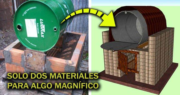 Solo te bastará usar un tambor y unos cuantos ladrillos para construir tu propio horno casero (+ Planos) – Manos a la Obra