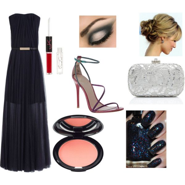 Black tie wedding guest, created by mamatelly88 on Polyvore