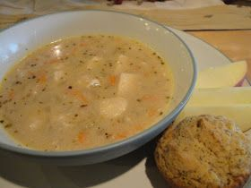 Tummy Treats ...Cooking for Crohn's Disease: Creamy Chicken and Veggie Soup with Cheddar Biscuits