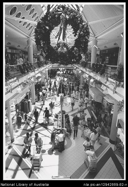 Christmas shoppers at Westfield Shopping Mall, Belconnen, Canberra [picture].