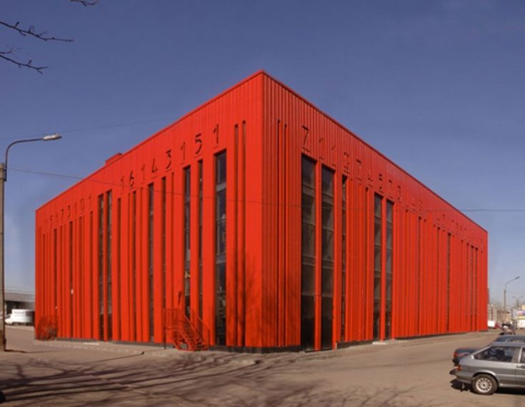 the Red Barcode Building in St. Petersburg designed by Vitruvius and Sons