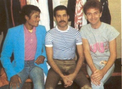 Michael Jackson, Freddie Mercury y John Deacon