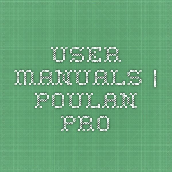 User Manuals | Poulan Pro