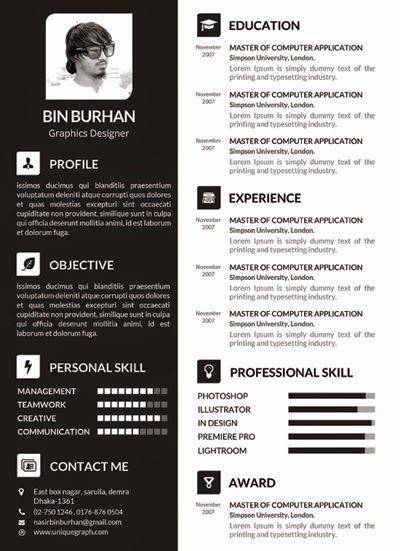 82 best Resume Templates   Plantillas images on Pinterest Free - resume templates for indesign