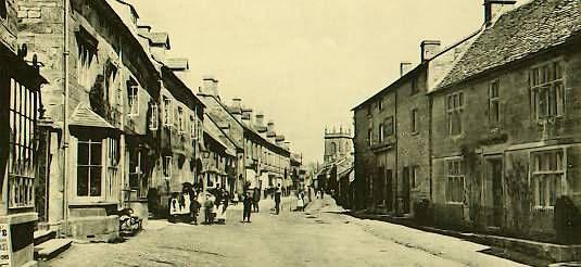 Looking eastward on High Street, Blockley, England