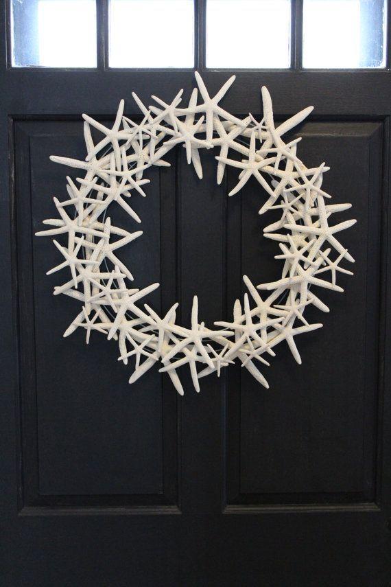 Floating Starfish Wreath 20-24 inches Nautical Seashell Beach Decor