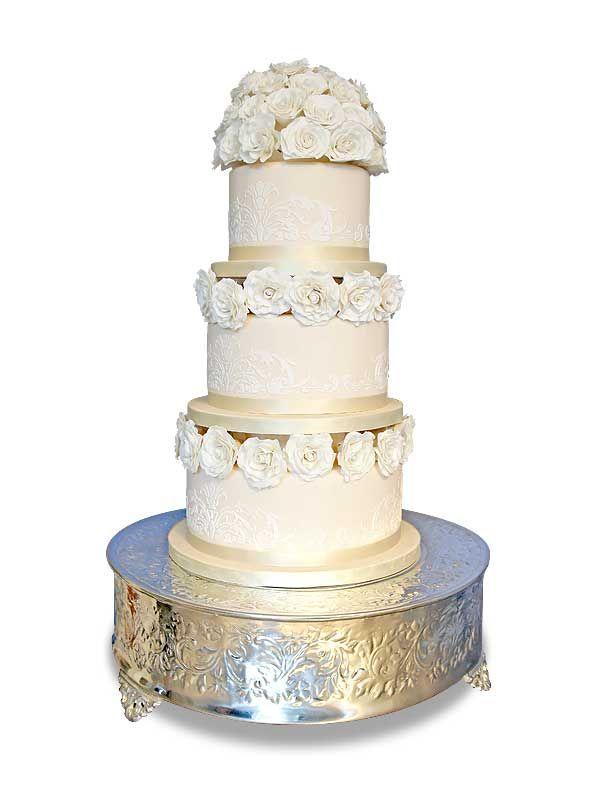 PuurTaart :: Taartengalerij - Bruidstaart - Wedding cake Blanc-royale