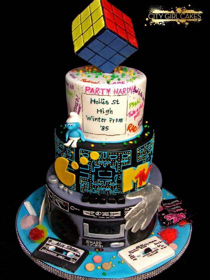 57 Best 80s Cake Images On Pinterest Anniversary Cakes Amazing