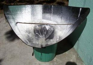 Windshield Shade Solar Funnel Cooker - for if you get stuck / emergency cooking