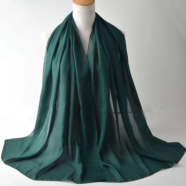Scarves 2017,chiffon silk scarf,muslim hijab,shawls and scarves,Head wrap,muffler,women cape,wraps shawls,plain chiffon hijab