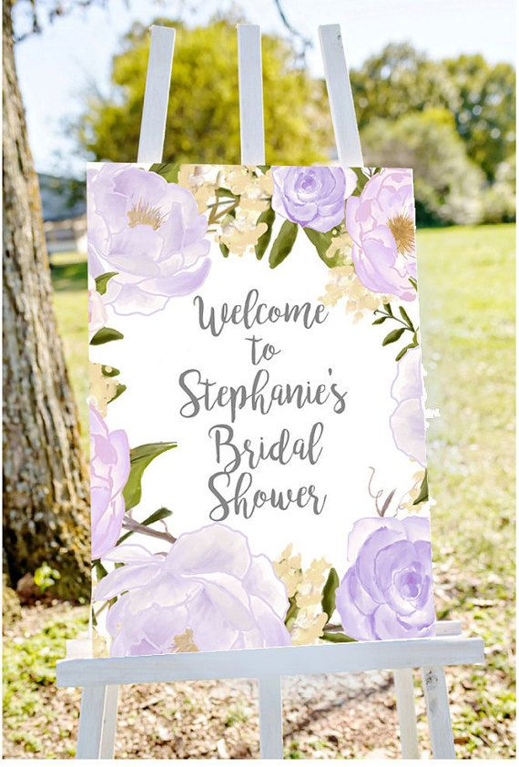 Bridal Shower Welcome Sign To By Papierscharmants