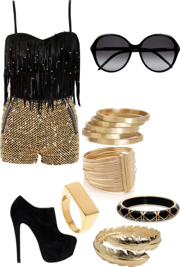 """Vegas Girl"" by gogonotdancer ❤ liked on Polyvore"