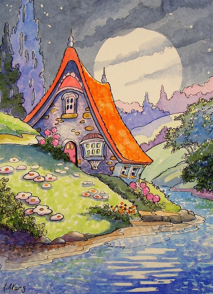 Under the Summer Moon Storybook Cottage Series - Alida Akers