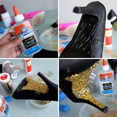 shiny things: Diy Shoes, Idea, Diy'S, Diy Crafts, Sparkly Shoes, Diy Heels Glitter, Diy Clothing, Shoes Redo, Diy Glitter Heels