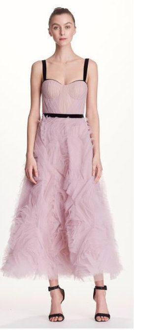 71440e41bb3f4 MARCHESA NOTTE SLEEVELESS TEXTURED TULLE MIDI TEA DRESS.  marchesanotte   cloth