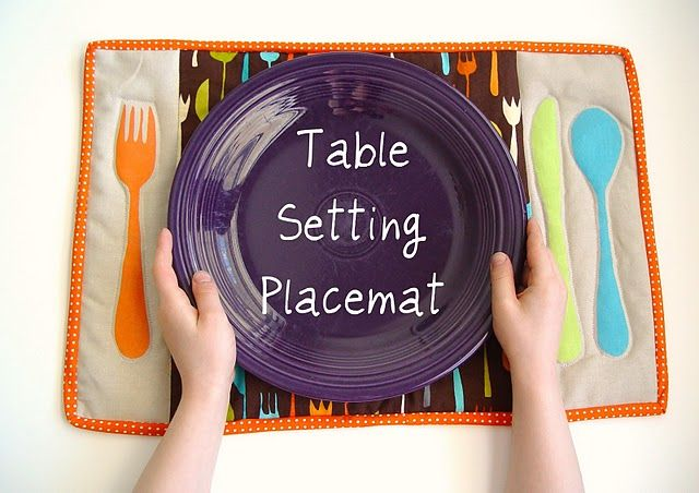 LOVE THIS! Table setting placemat!!! So great for kids!