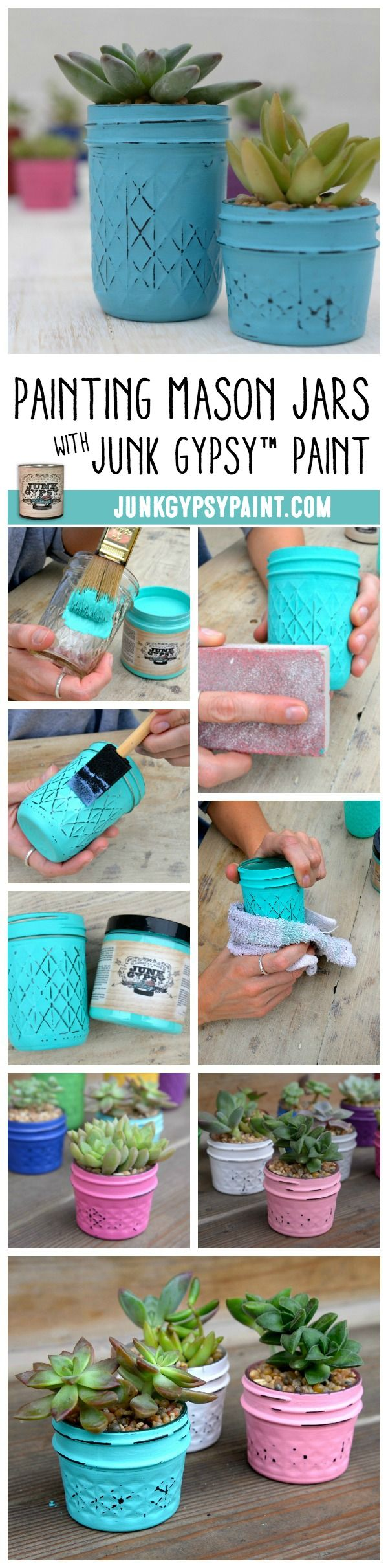 Painting Mason Jars with Junk Gypsy™ Paint