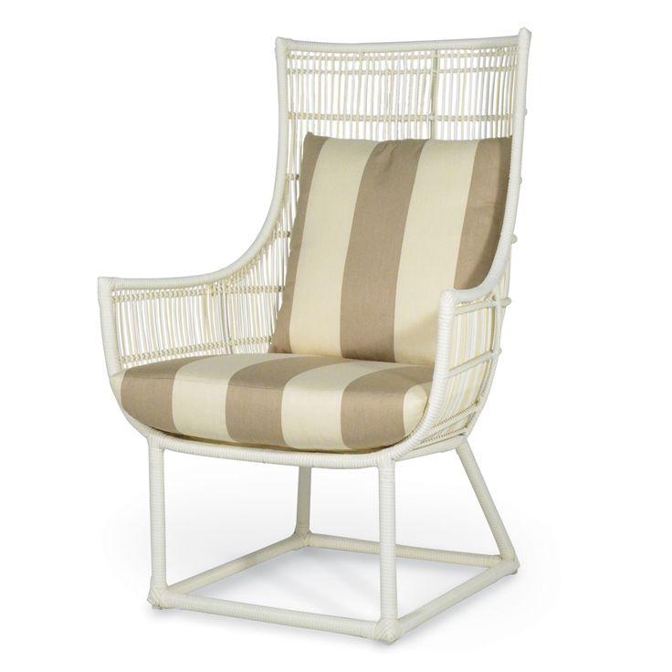 Synthetic Rattan Indoor/outdoor Lounge Chair With Indoor/outdoor Fabric  Summerfields, Furniture In Naples, FL
