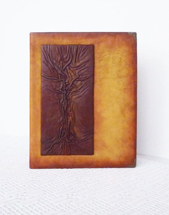 Leather Photo Album Appreciation Unisex Leather Gift by AnnaKisArt