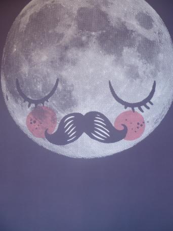 Affiche Lune et moustache