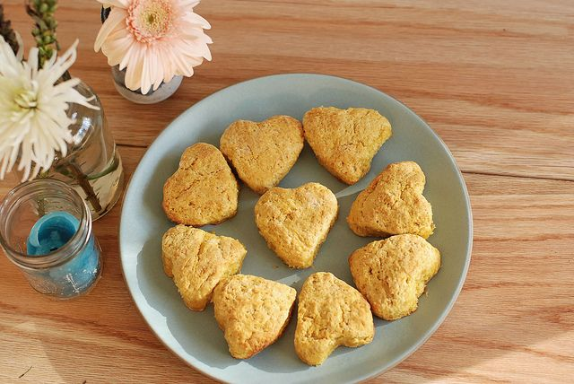 sweet potato biscuits with caramelized shallot and sage butter by ...