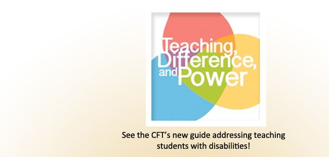 by Danielle Picard, Graduate Teaching Fellow 2014-2015 Print version  Students of all abilities and backgrounds want classrooms that are inclusive and convey respect. For those students with disabilities, the classroom setting may present certain challenges that need accommodation and consideration.  Terminology   Types of Disabilities   Access to Resources   Confidentiality and Disclosure...