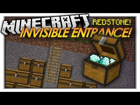 Minecraft Redstone INVISIBLE ENTRANCES! HIDDEN DOORS! SECRET CHESTS! (Minecraft Redstone) - YouTube