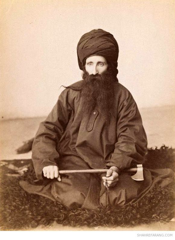 Portrait of a Dervish, late 19th-early 20th century, Brooklyn Museum. Photographs of Iranian dervishes by Antoin Sevruguin.